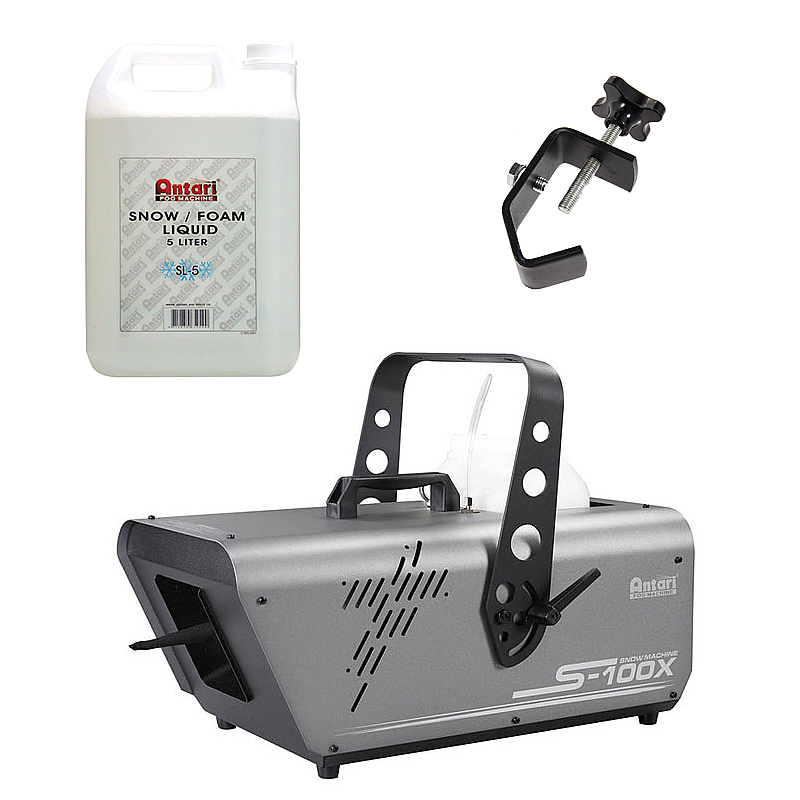 Elation Lighting S-100X 5-Liter Snow Machine Package with Juice & Truss Clamp