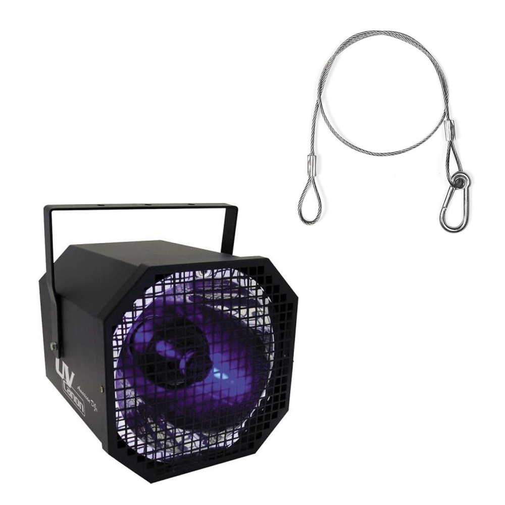 American Dj Uv Canon 400 Watt Black Lighting Fixture W