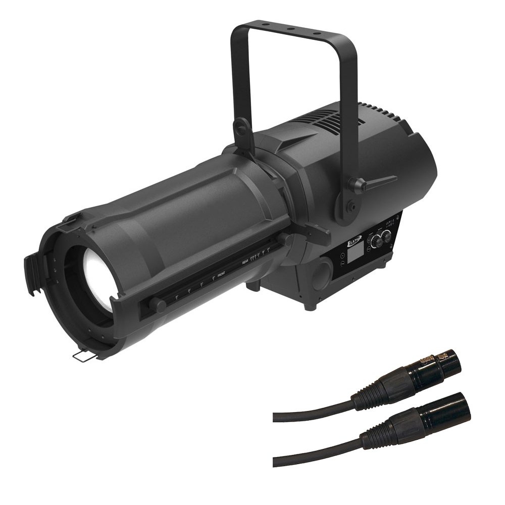 Elation DW Profile 250 LED Spot w/ 3-Pin to Male to 5-Pin Female DMX Adaptor