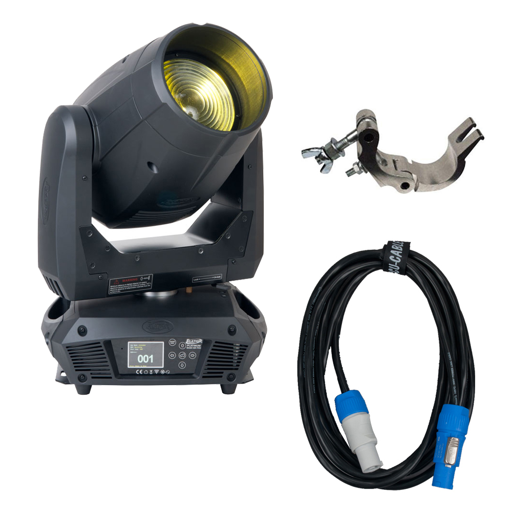 American DJ Platinum Wash 16R Pro Wash Moving Head w/ Clamp & Powercon Cable