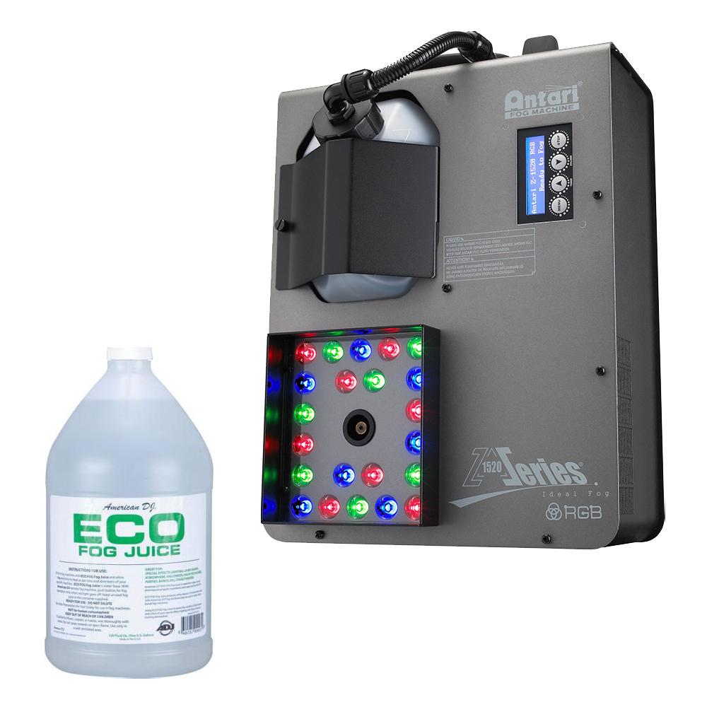 Elation Z-1520RGB 1500-Watt Fogger Area Effect Machine w/ 1 Gallon Fog Fluid