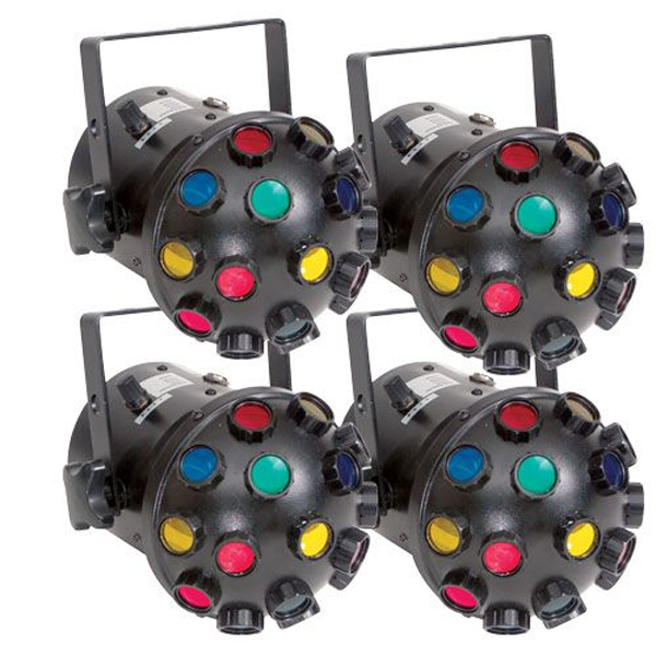 Eliminator Lighting E-134 Starblast DJ Lighting System Lightweight 4 Units Connects up to 16 Units