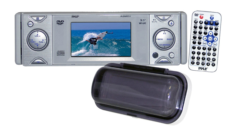 Pyle Marine Audio PLDMR3U In-Dash Marine CD / DVD Receiver w/ 3' Built In Monitor