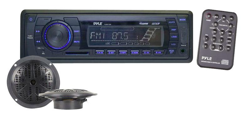 Pyle Marine Audio PLMRKT12BK In-Dash Marine AM/FM PLL Tuning Radio w/ USB/SD/MMC Reader