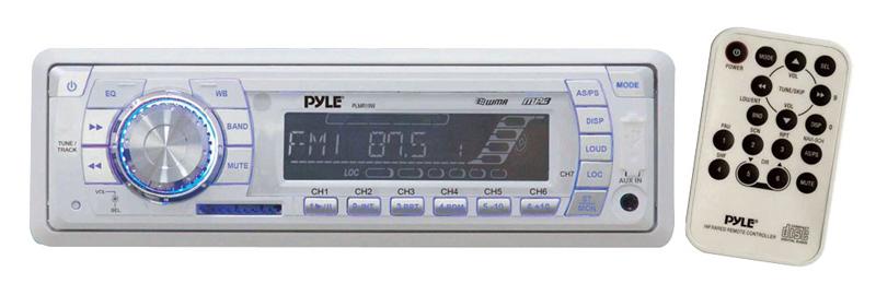 Pyle Marine Audio PLMR19W AM / FM-MPX PLL Tuning Radio with SD / MMC / USB & Weather Band