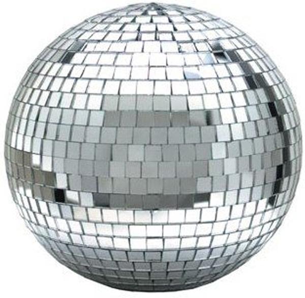 "Eliminator Lighting EM8 8"" Mirror Ball Real Glass w/ Hanging Ring"