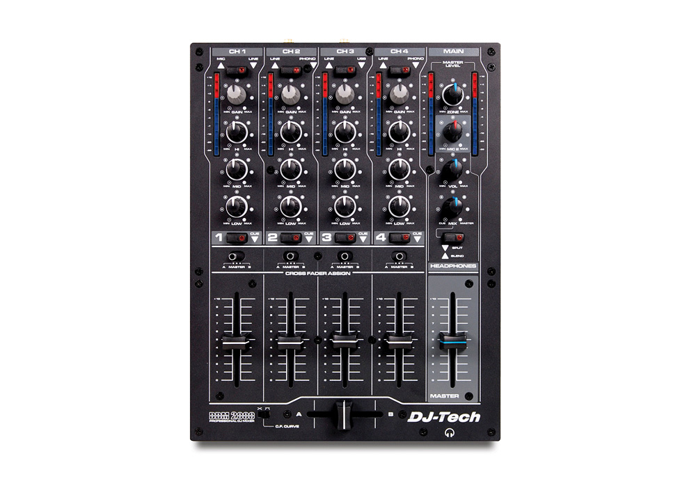 DJ Tech DDM 2000 USB Professional Compact 4 Channel DJ Mixer