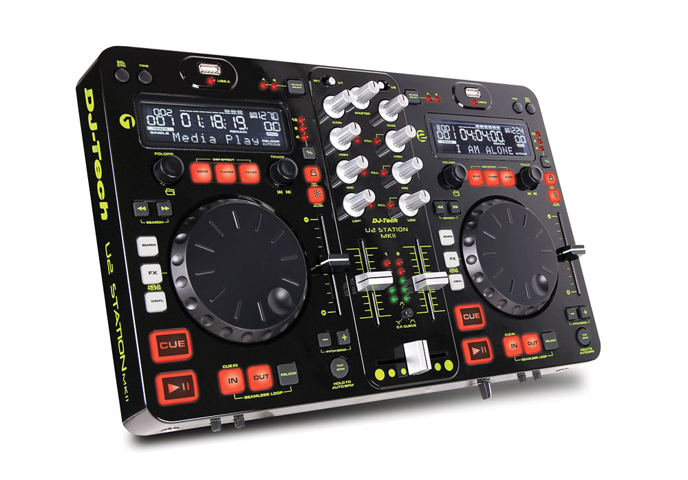 DJ Tech U2 Station MKII All-In-One DJ Solution for USB Hard Drive