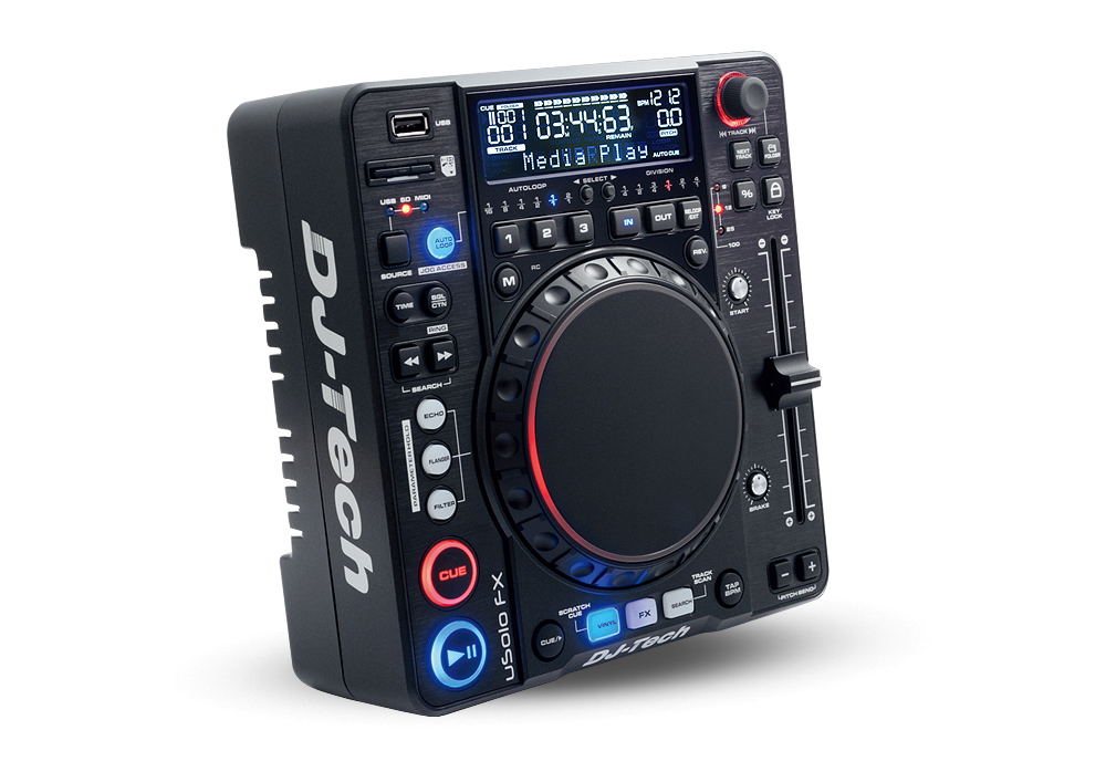 DJ Tech uSolo FX Compact Media Player with USB / SD Card inputs and Midi Controller