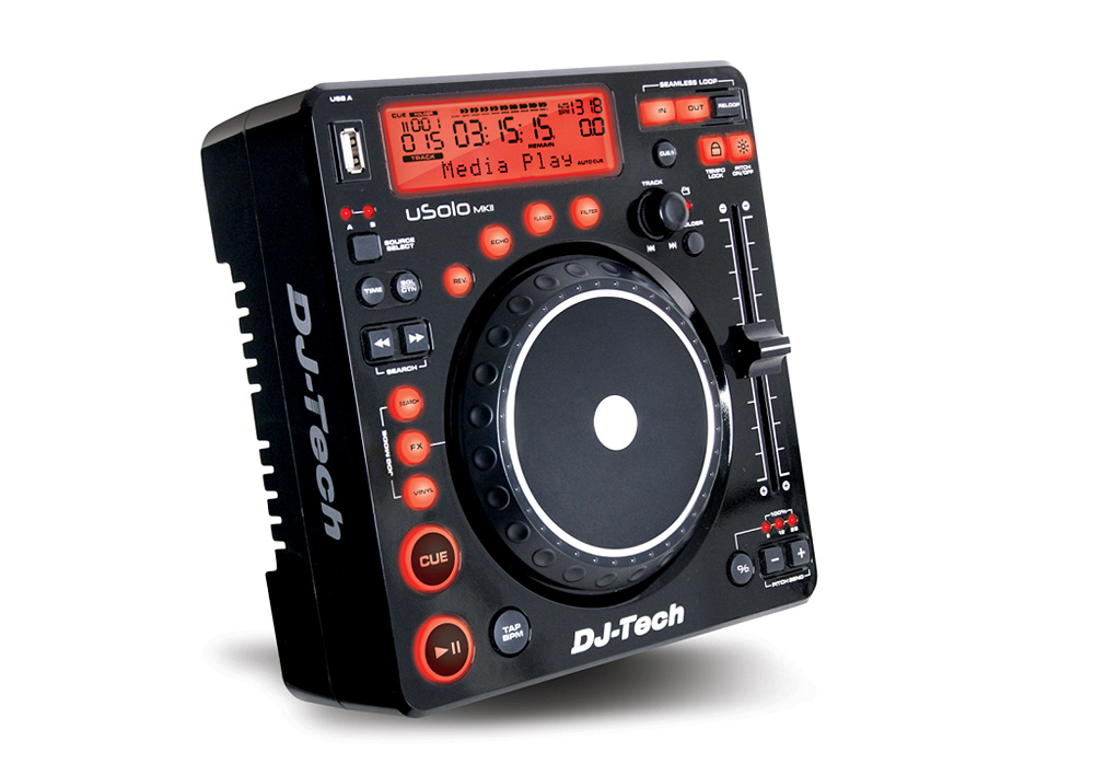 DJ Tech uSolo MKII Compact USB Media Player and Controller with Scratch and 5 effects