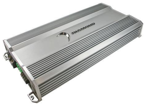 Diamond D61200.1 Car Audio D6 Series 1Ch Class D 1200 Watt Sub Amplifier (D6 1200.1)
