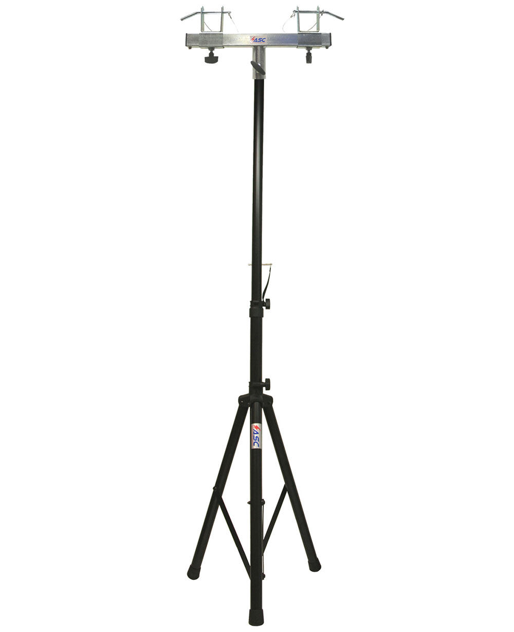 DJ Pro Lighting 6 Foot Tripod Light Stand & Square Truss T-Bar Adapter Package