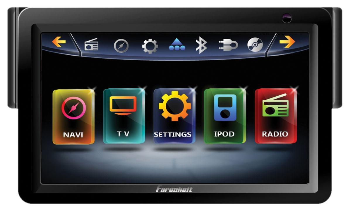 "Farenheit TI-718NBT 1DIN 7"" Inteq Multimedia Unit w/ AUX Input & Analog TV Tuner"