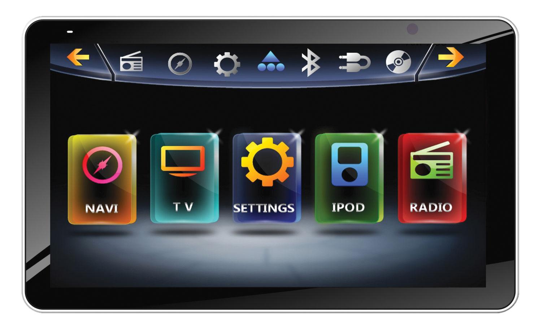 "Farenheit TI-931NB 1 DIN Motorized Faceplate 9.3"" Inteq Multimedia Source Unit"