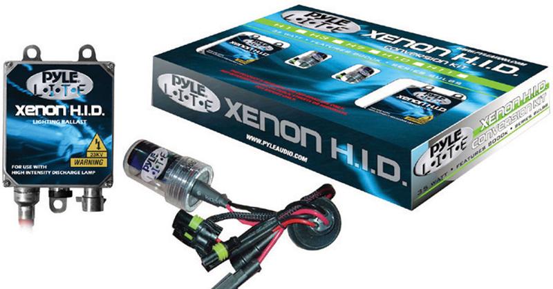 Pyle Car Audio PHDH1K12K 12,000K Single Beam H1 HID Xenon Driving Light System