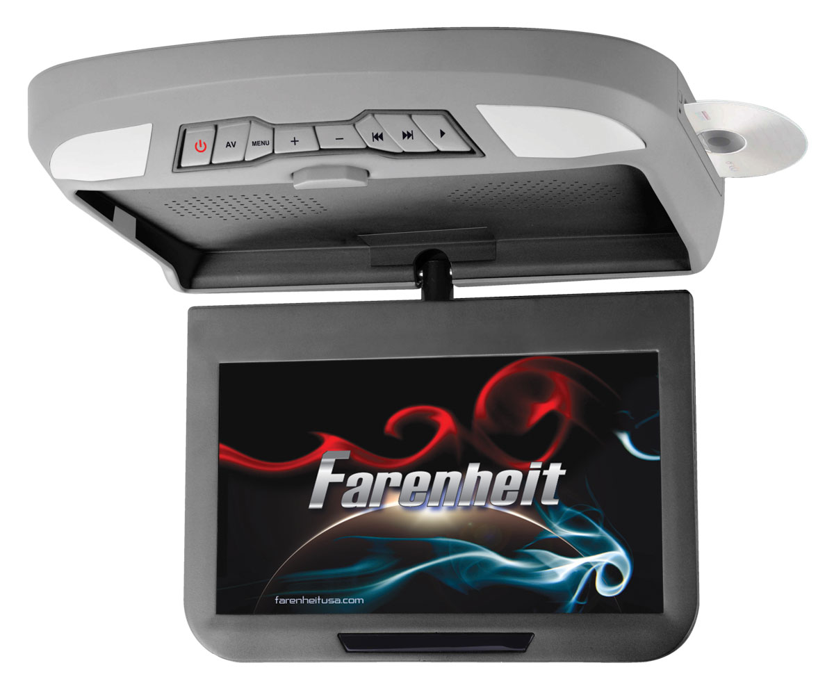 """Farenheit MD-1020X Ceiling Mounted DVD Entertainment System w/ 10.1"""" LCD Screen"""