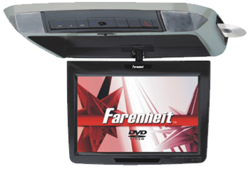 Farenheit MD-1120CMX 11.2 Overhead Filp-Down TFT-LCD Monitor & 3 Snap-on Skins/Colors
