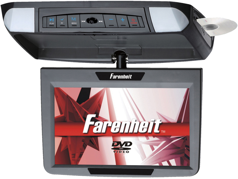 """Farenheit MD-900CM 9"""" Overhead TFT-LCD Monitor 3 Snap-on Skins/Colors"""