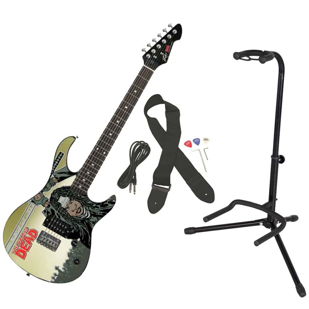 Peavey Walking Dead Michonne Splash Rockmaster Electric Guitar w/ Gator Stand