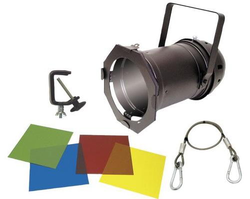 American DJ 46 BLACK COMBO Par 46 Lighting Can Package (Black) (Clamps + Safety Cable Included)