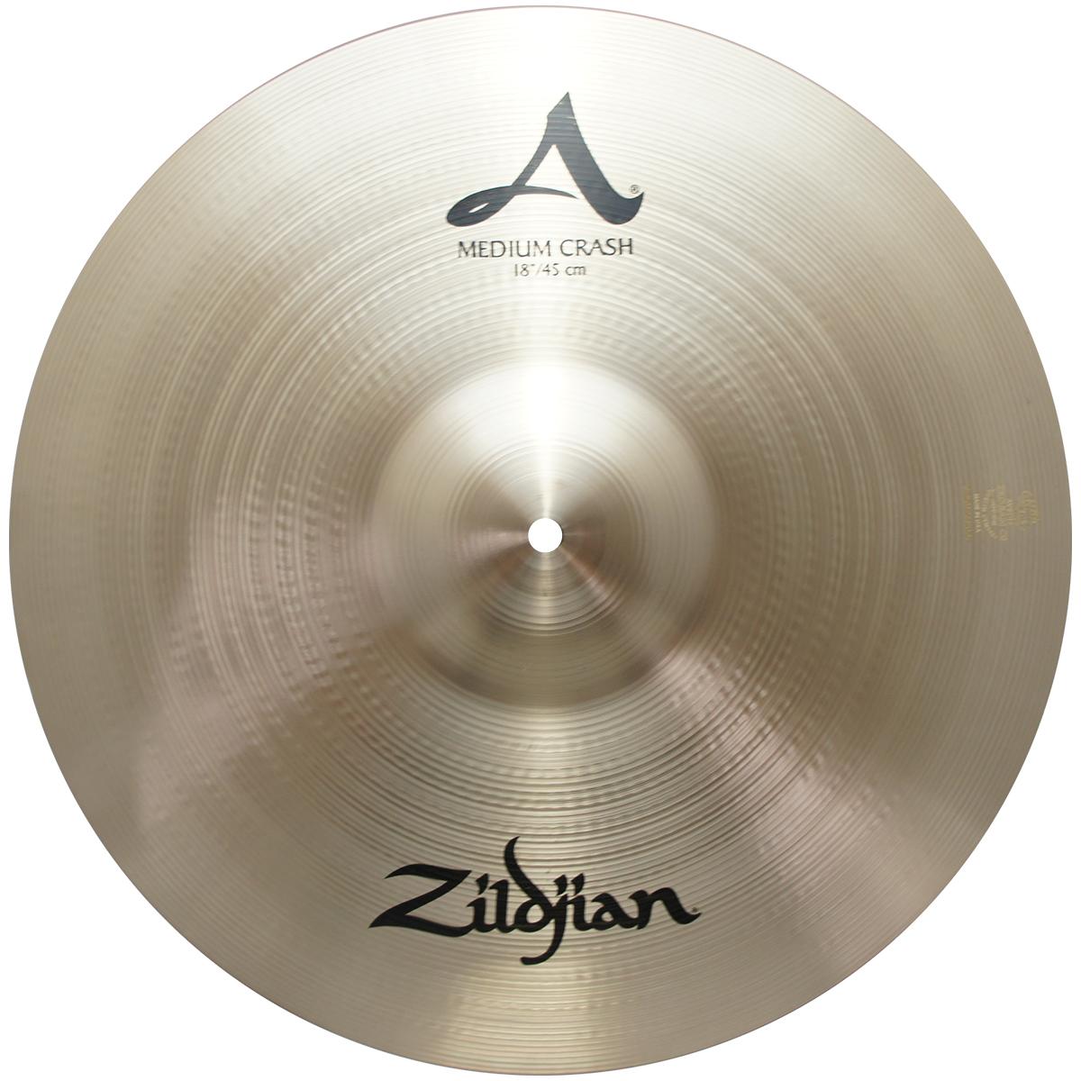 """Zildjian 18"""" A Series Medium Crash Cast Bronze Drumset Cymbal with High Pitch A0242"""