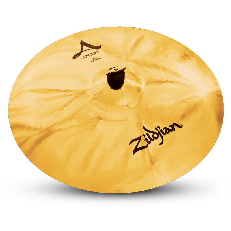 "Zildjian A20518 20"" A Custom Ride Cast Bronze Drumset Cymbal with Brilliant Finish"