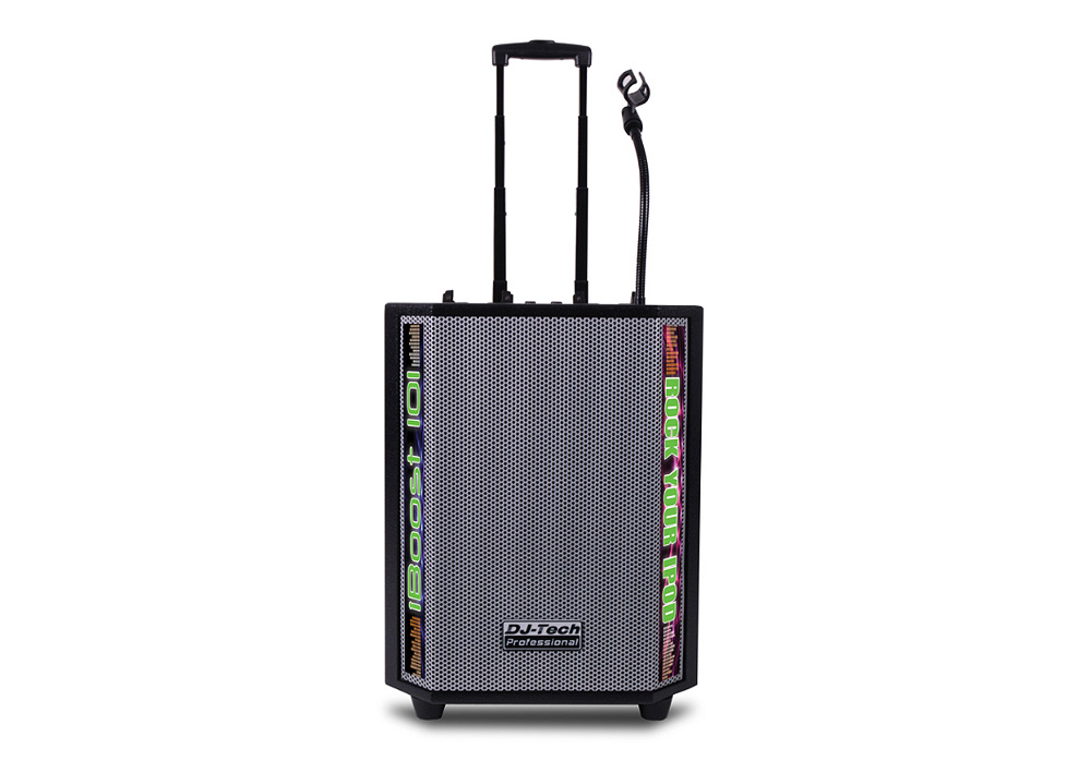 DJ Tech iBoost 101 Mobile DJ-PA System for iPods with 1500 Watts Max