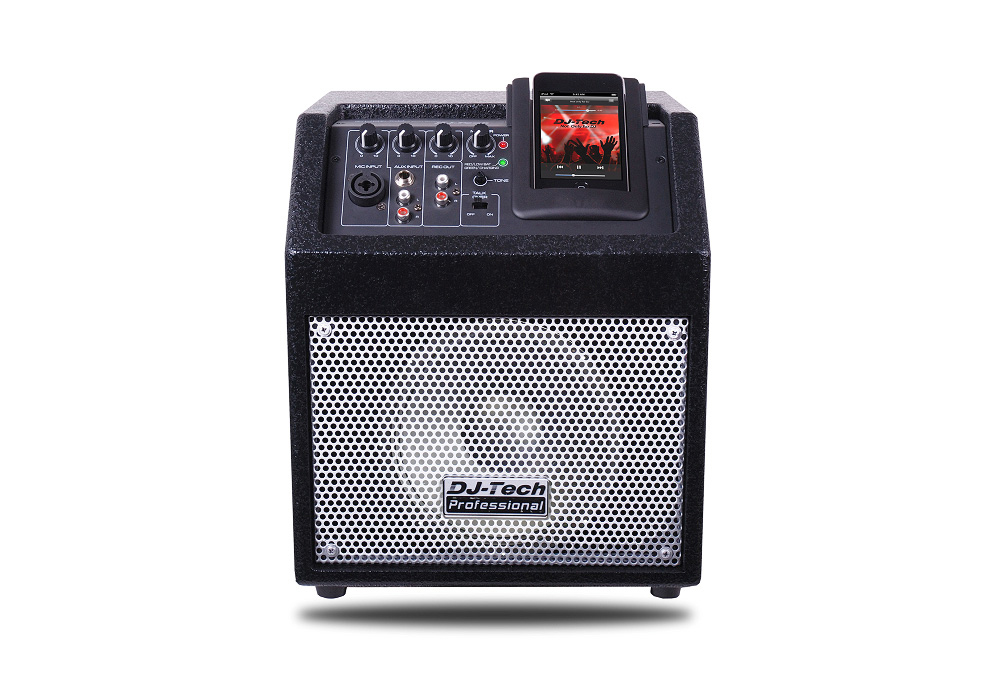 DJ Tech iCube 50 Wireless PA System with Battery Powered & iPod docking