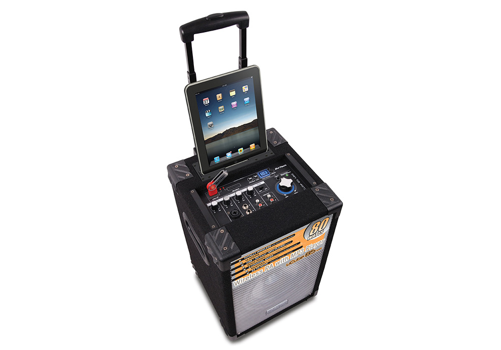 DJ Tech uCube 85 MKII Wireless PA System with MP3 Player iPad Version