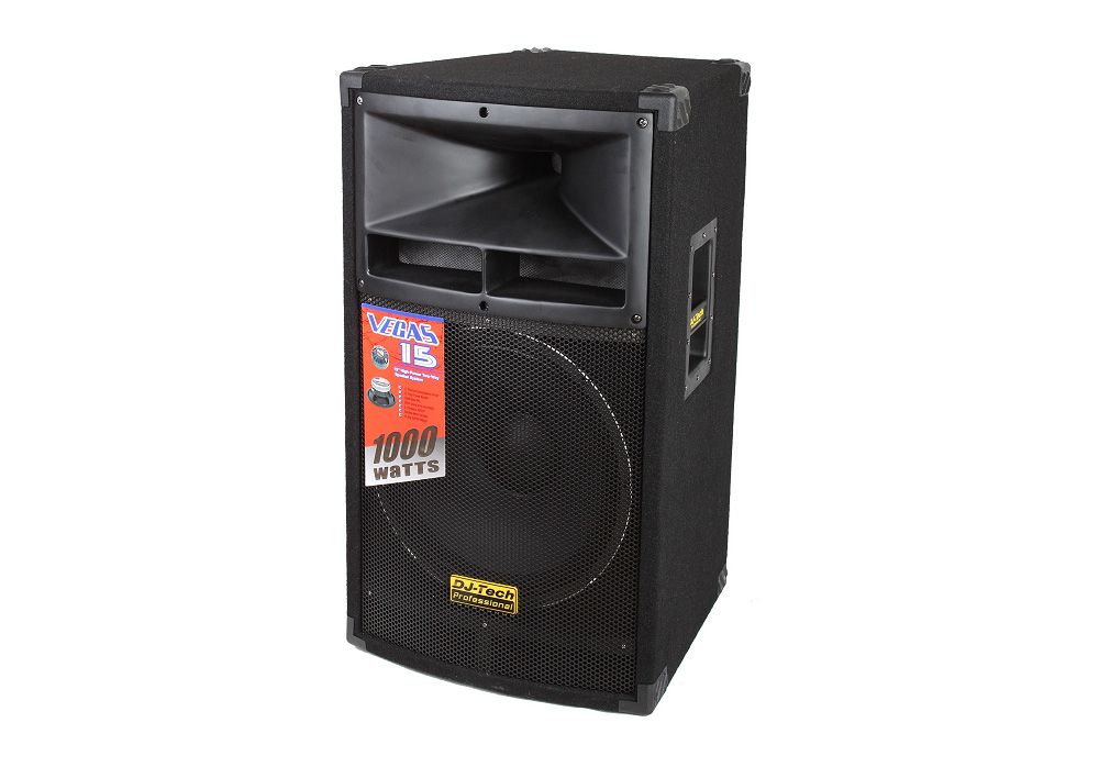 "DJ Tech Vegas 15 1000W Single 15"" High-Power Two-Way Speaker System with Titanium Driver"