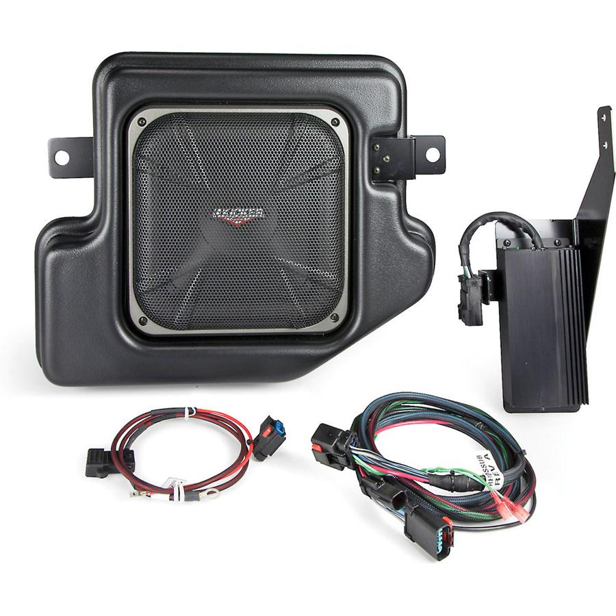 Kicker Car Audio Soundgate SubStage SRAMCQ09 Custom-fit Powered Subwoofer for 2009-Up Dodge Ram Crew and Quad Cab Vehicles