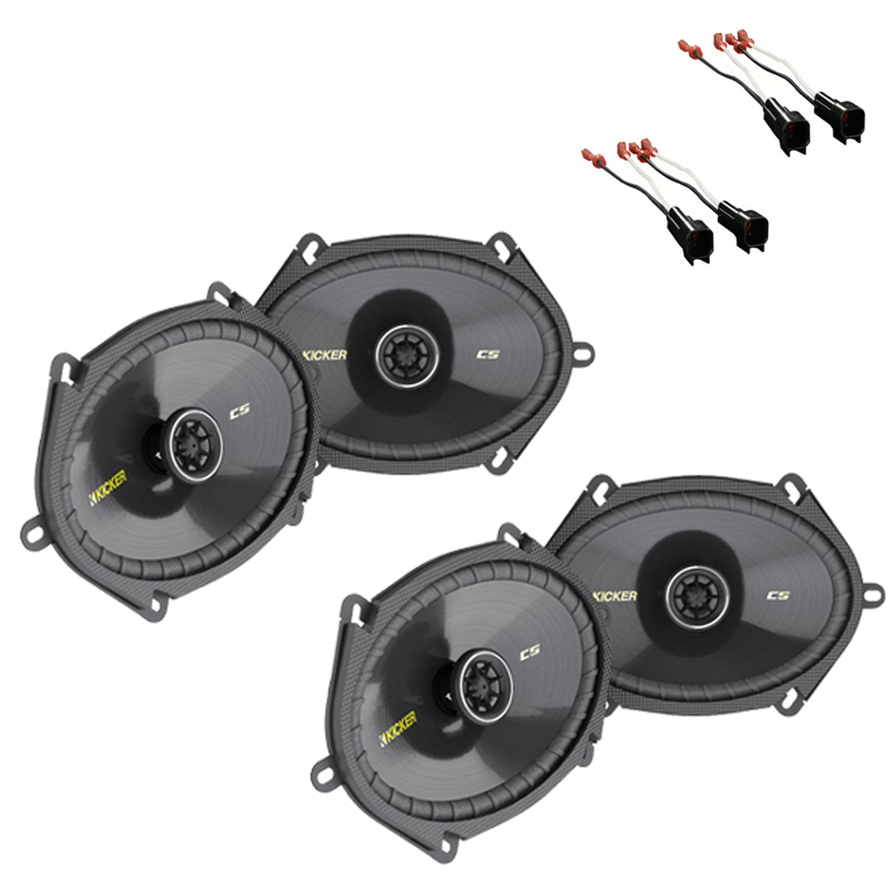 Ford F250/F350 Regular Cab 00-12 Truck Kicker Factory 5x7 6x8 Coaxial Speaker Replacement (2) CS684 Package