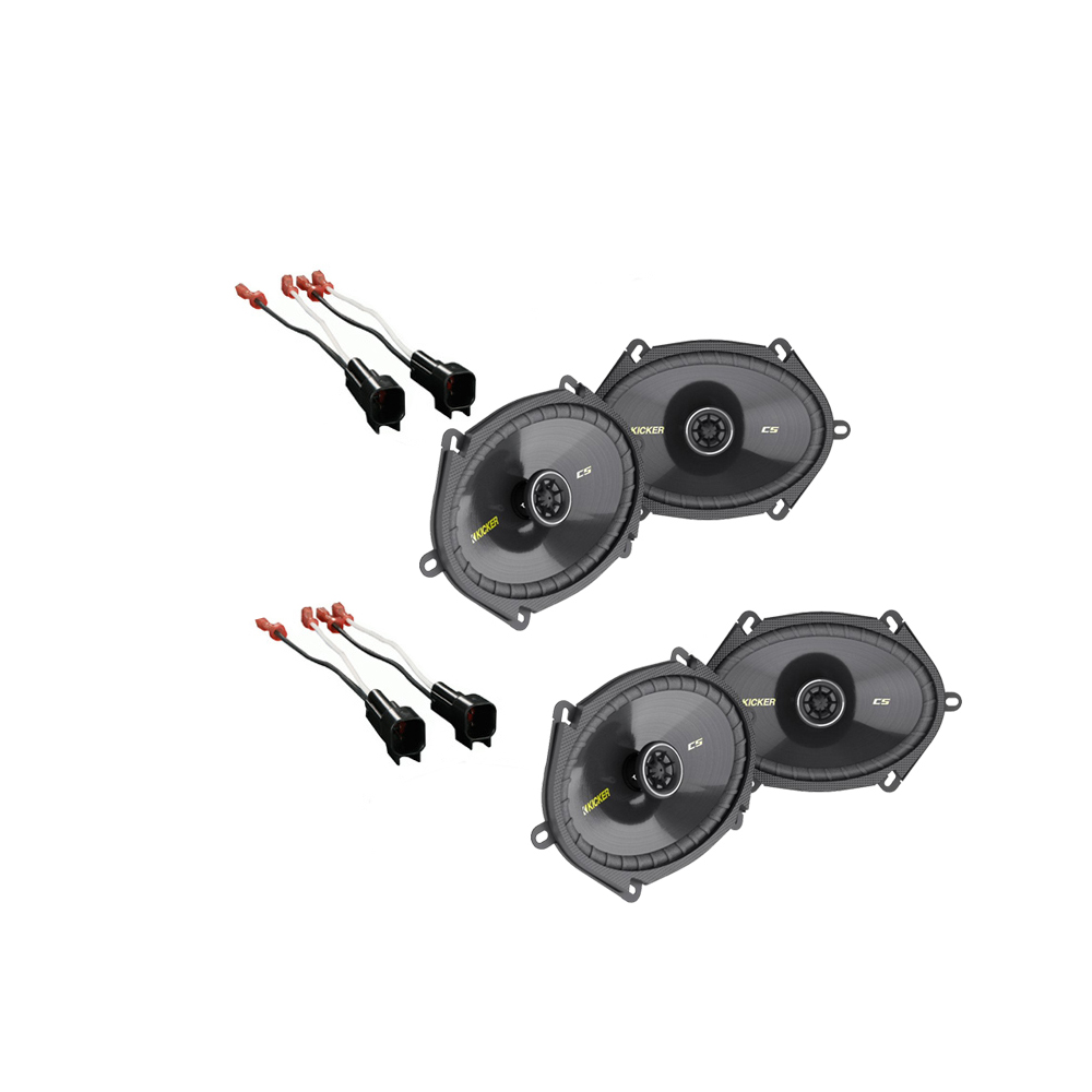Lincoln LS 2000-2006 Kicker Factory 5x7 6x8 Coaxial Speaker Replacement (2) CS684 Package New