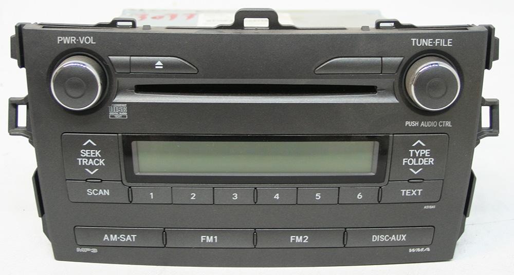 Toyota Corolla 2009-2010 Factory AM/FM Stereo MP3 CD Player OEM Radio 8612002B00