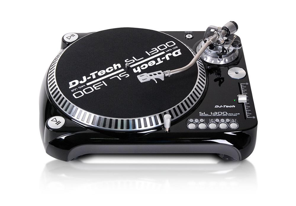 DJ Tech SLBD1000USB Professional Belt Drive Turntable with USB Output (Black)