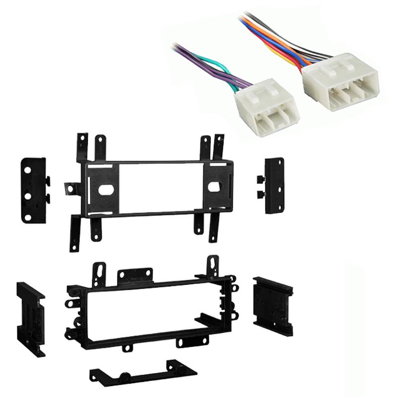 Mazda Protege 1995 1996 1997 1998 1999 2000 Single DIN Stereo Harness Radio Install Dash Kit Package