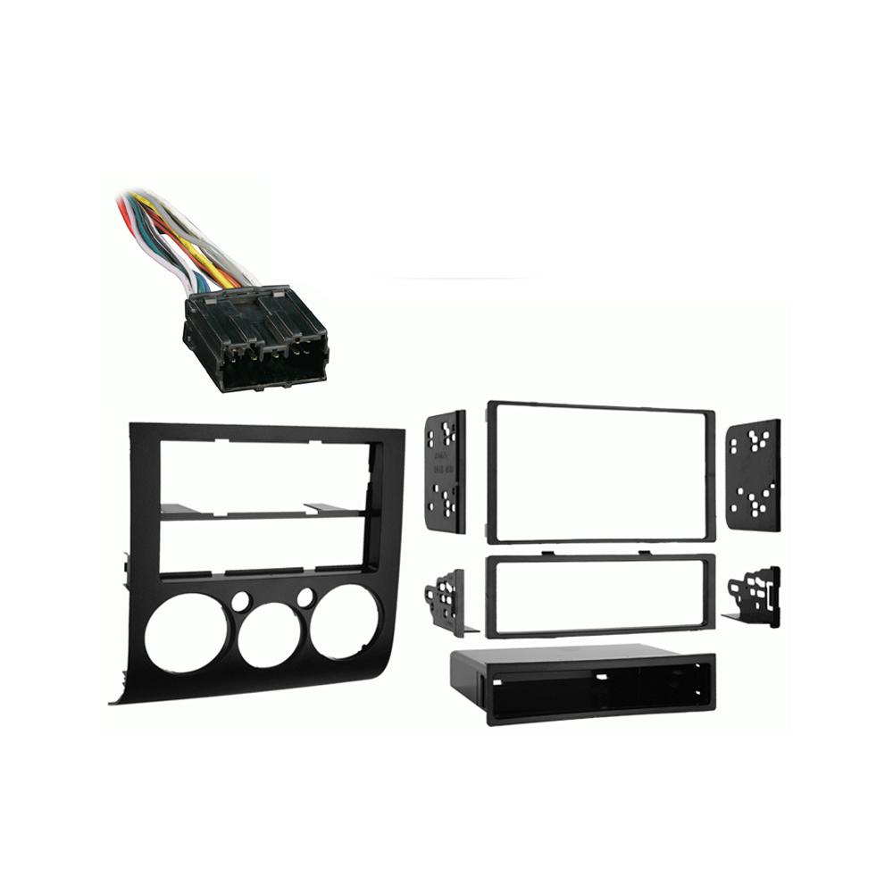 Mitsubishi Galant 2004 2005 2006 2007 2008 2009 2010 2011 2012 2013  w  Auto Climate Control Stereo Harness Radio Dash Kit