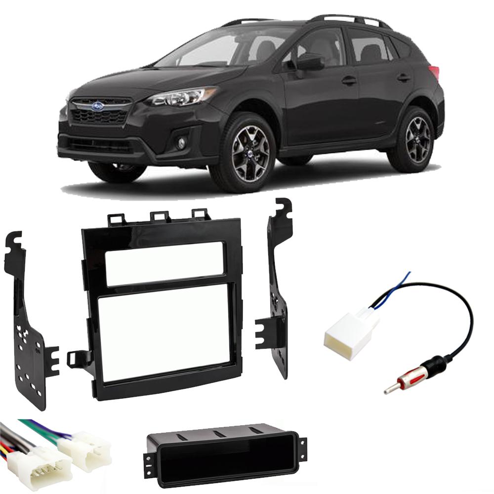 Fits Subaru Crosstrek 2018 Double DIN Stereo Harness Radio Install Kit Package