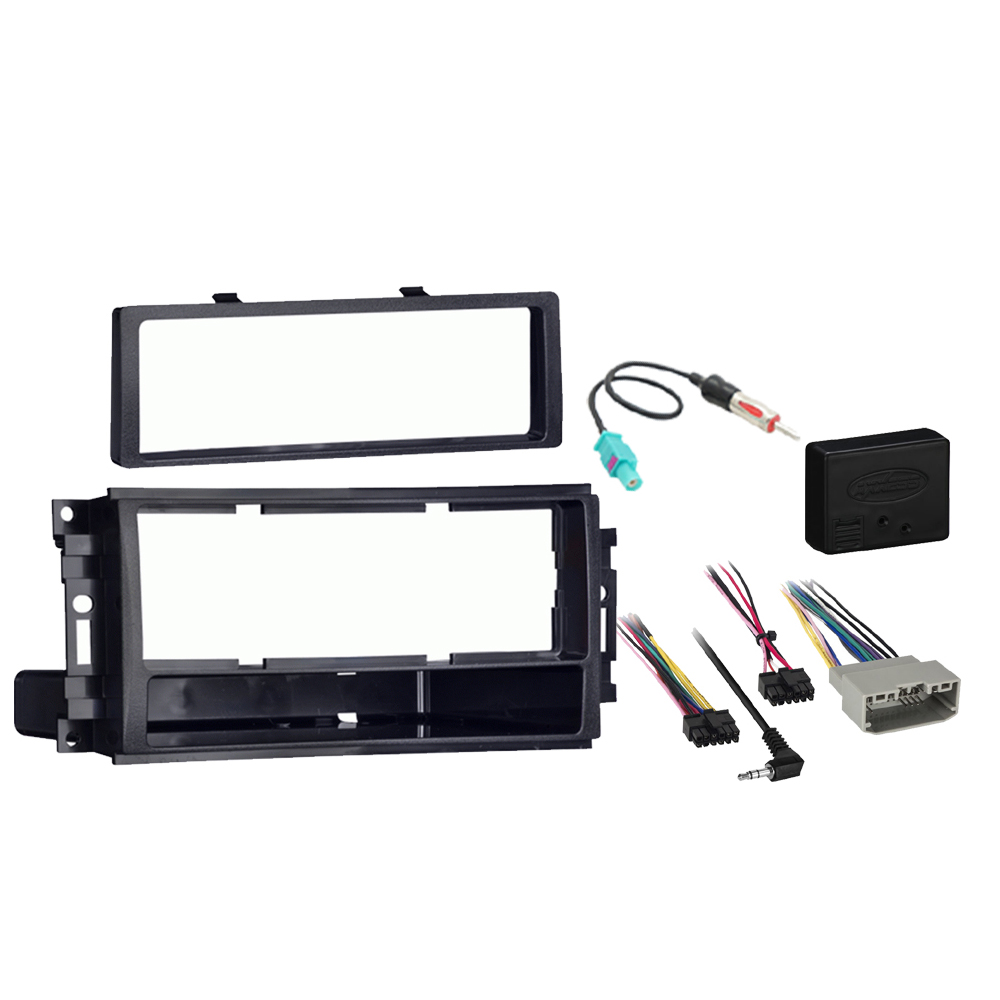 Dodge Avenger 2008 2009 2010 2011 2012 2013 2014 Single DIN Stereo Harness Radio Install Dash Kit Package