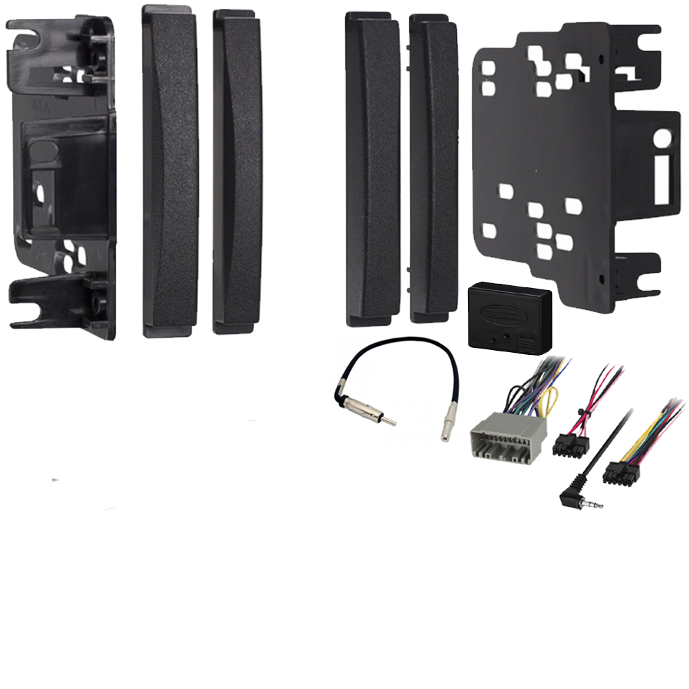 Dodge Journey 2009 2010 Double DIN Stereo Harness Radio Install Dash Kit Package