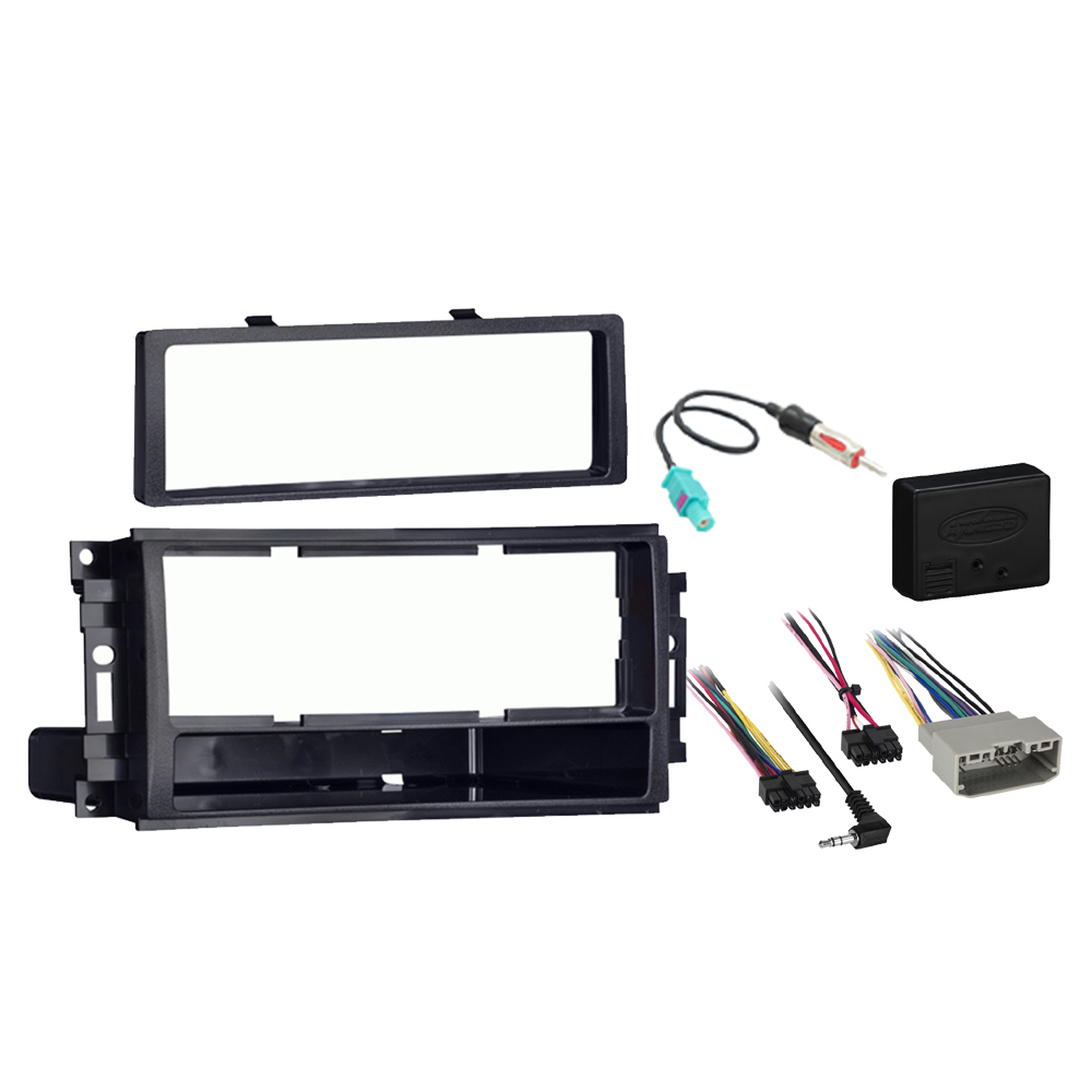 Dodge Magnum 2008 2009 Single DIN Stereo Harness Radio Install Dash Kit Package