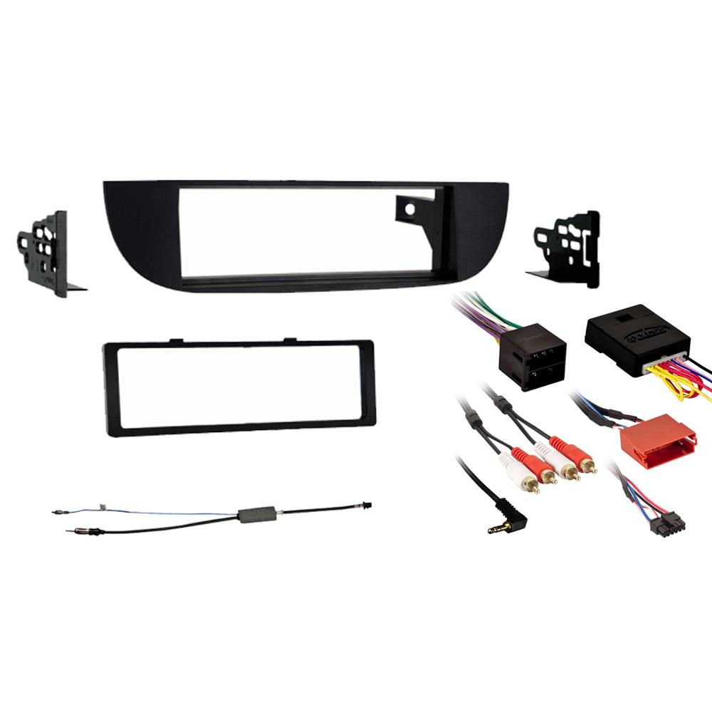 Fiat 500 500C 500E 2012 2013 2014 2015 Single DIN Stereo Harness Radio Install Dash Kit