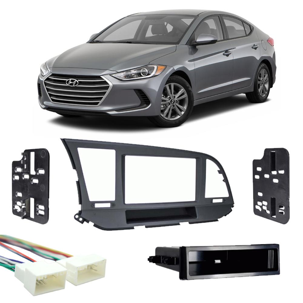 Fits Hyundai Elantra 2017 2018 Single DIN Stereo Harness Radio Install Dash Kit