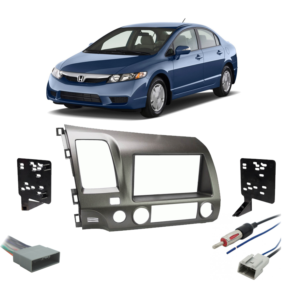 Honda Civic 2009 2010 2011 Single or Double DIN Stereo Radio Install Dash Kit Taupe