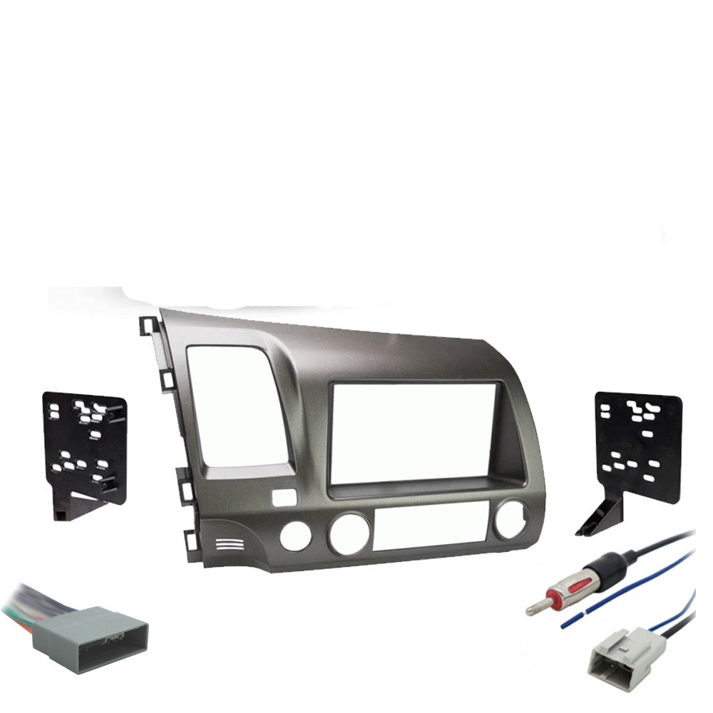 Honda Civic 2006 2007 2008 Single or Double DIN Stereo Radio Install Dash Kit Taupe