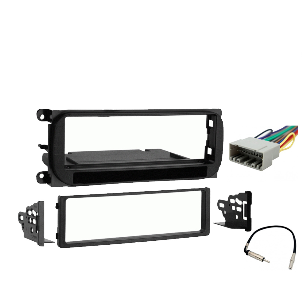 Dodge Neon 2000 2001 Single DIN Stereo Harness Radio Install Dash Kit Package