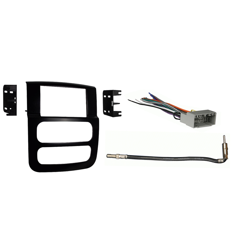 Dodge Ram Pickup 2500 3500 2003 2004 2005 Double DIN Stereo Harness Radio Dash Kit