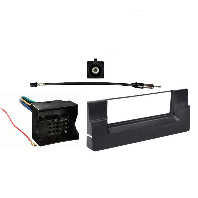 BMW 5 Series 2002 2003 Single DIN Stereo Harness Radio Install Dash Kit Package