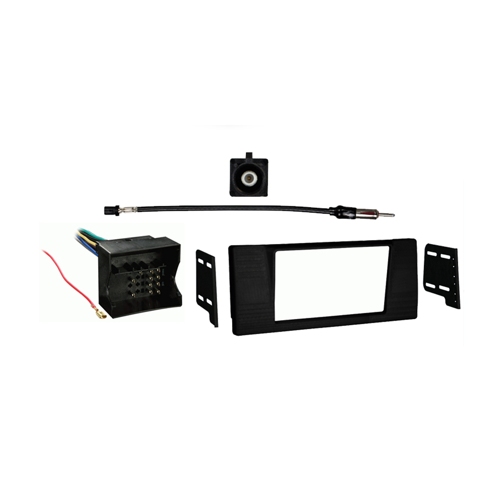 BMW 5 Series 2002 2003 Double DIN Stereo Harness Radio Install Dash Kit Package