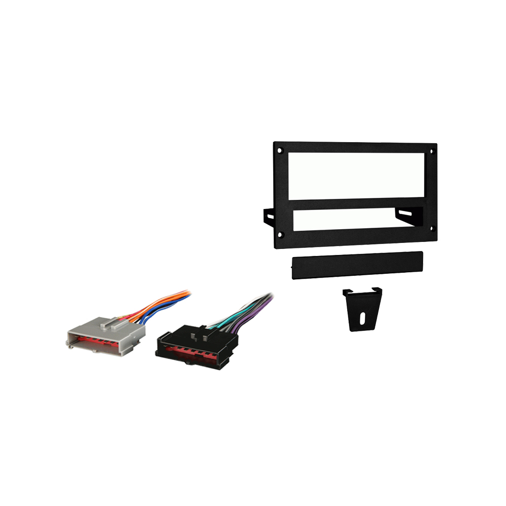 Ford Mustang 1987 1993 Single DIN Stereo Harness Radio Install Dash Kit Package